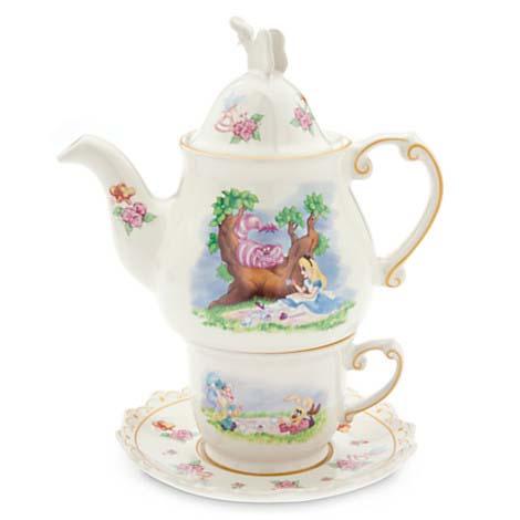 disney tea set alice in wonderland tea mug teapot. Black Bedroom Furniture Sets. Home Design Ideas
