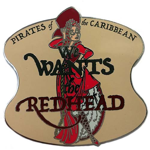 Disney Pirates Of The Caribbean Pin We Wants The Red Head